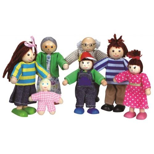 Drewniane laleczki RODZINKA lalki do domku ! LELIN