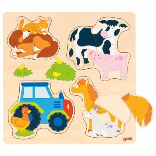 Puzzle układanka ZWIERZĘTA NA FARMIE ! GOKI