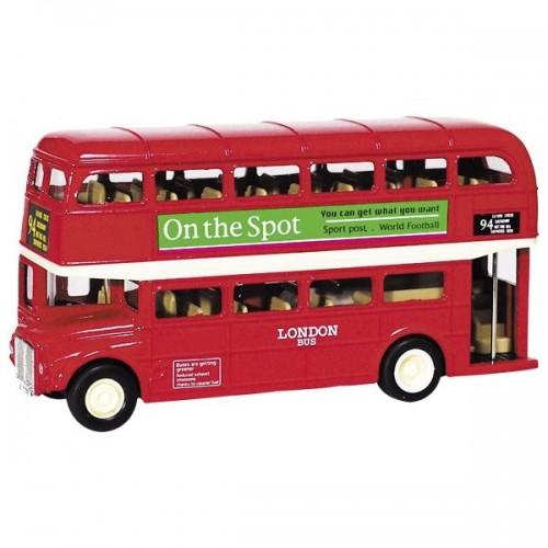 Metalowy LONDON BUS autobus PIĘTROWY model kolekcjonerski