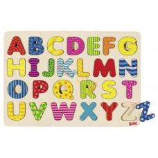 Puzzle układanka KOLOROWY ALFABET literki ! GOKI