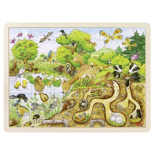 Drewniane puzzle NATURA 96 elem. ! GOKI