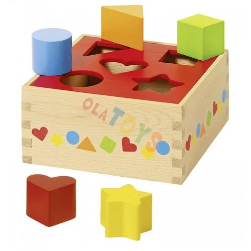Drewniany SORTER nauka kolorów , kształtów ! GOKI